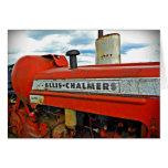 Tractor de Allis Chalmers Tarjeta De Felicitación