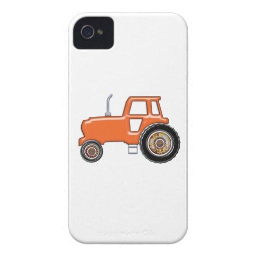Tractor de granja anaranjado iPhone 4 Case-Mate coberturas
