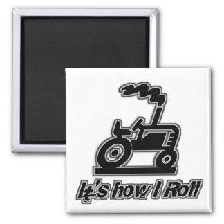 Tractor de granja cómo ruedo imanes de nevera