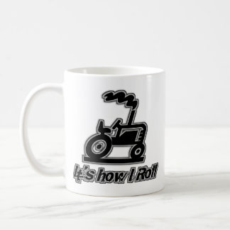 Tractor de granja cómo ruedo taza de café