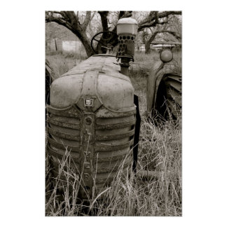 Tractor de granja de Oliverio Posters