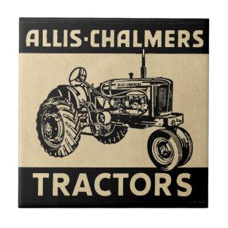 Tractor de granja del vintage tejas