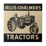 Tractor de granja del vintage azulejo cuadrado pequeño