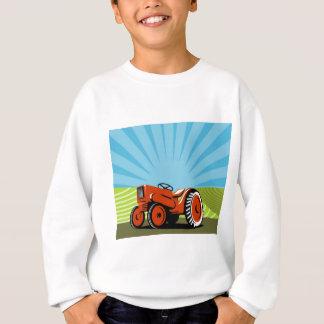 tractor de granja del vintage que ara estilo retro poleras
