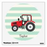 Tractor de granja rojo