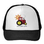 Tractor de granja rojo gorra