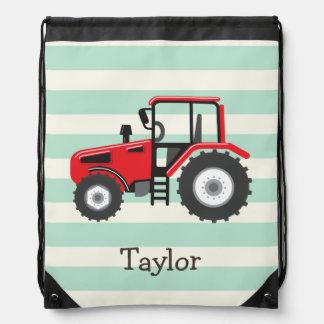 Tractor de granja rojo mochila