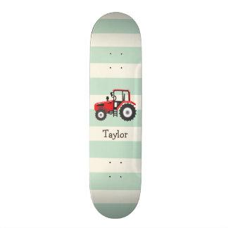 """Tractor de granja rojo patineta 7 3/8"""""""