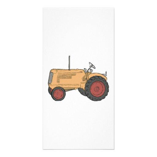 Tractor de granja tarjetas con fotos personalizadas
