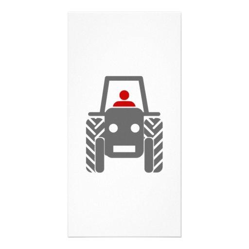 Tractor de granja tarjeta personal