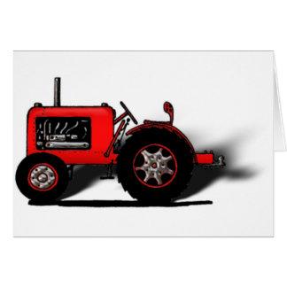 Tractor de la escuela vieja tarjeta de felicitación