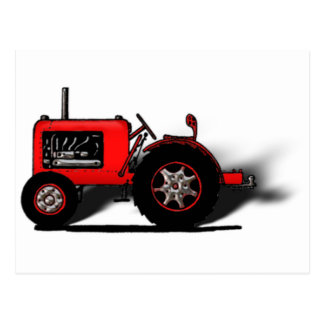 Tractor de la escuela vieja tarjetas postales