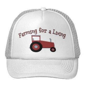 Tractor de los granjeros de Lil que cultiva para Gorras De Camionero