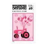 Tractor de los rosas bebés con franqueo de los glo