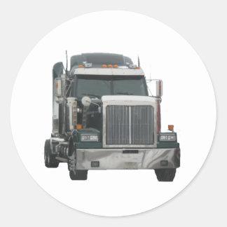 Tractor del camión etiqueta redonda