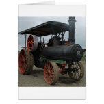 Tractor del coche de carreras felicitación