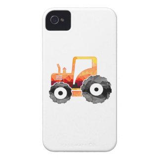Tractor del naranja del mosaico del polígono iPhone 4 protectores