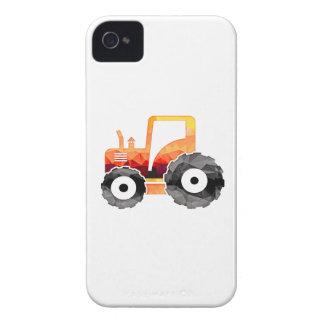 Tractor del naranja del mosaico del polígono iPhone 4 protector