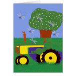 Tractor del pleno verano tarjeton