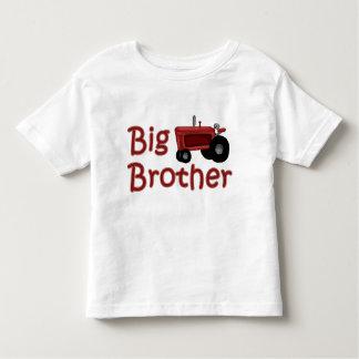 Tractor del rojo de hermano mayor playera de bebé