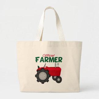 Tractor del rojo del granjero bolsa