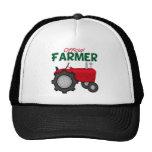 Tractor del rojo del granjero gorras