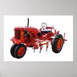 Tractor del rojo del vintage posters