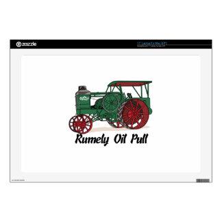 Tractor del tirón del aceite de Rumely 43,2cm Portátil Calcomanía