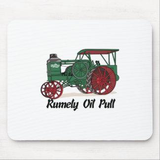 Tractor del tirón del aceite de Rumely Alfombrillas De Ratón