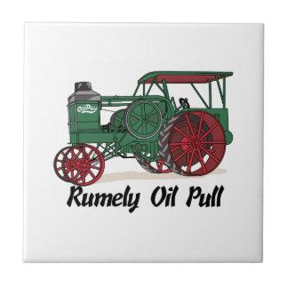 Tractor del tirón del aceite de Rumely Azulejo Cuadrado Pequeño