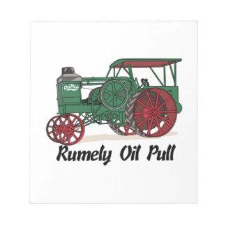 Tractor del tirón del aceite de Rumely Bloc De Notas
