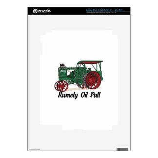 Tractor del tirón del aceite de Rumely iPad 3 Pegatinas Skins