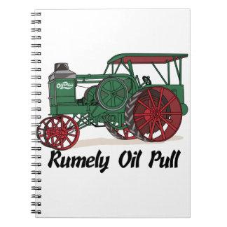 Tractor del tirón del aceite de Rumely Libreta Espiral