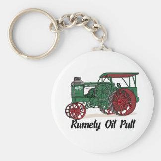 Tractor del tirón del aceite de Rumely Llavero Redondo Tipo Pin