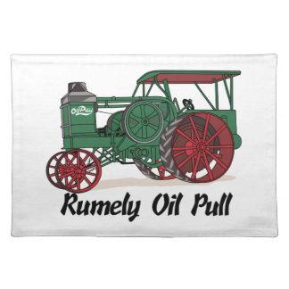 Tractor del tirón del aceite de Rumely Manteles