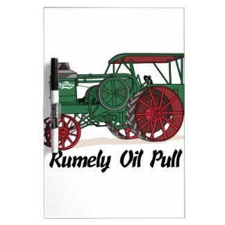 Tractor del tirón del aceite de Rumely Pizarras Blancas