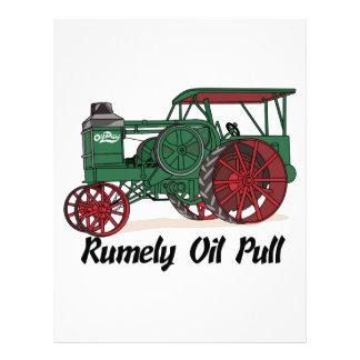 Tractor del tirón del aceite de Rumely Plantilla De Membrete