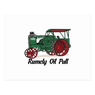 Tractor del tirón del aceite de Rumely Postal
