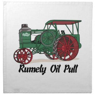 Tractor del tirón del aceite de Rumely Servilletas De Papel