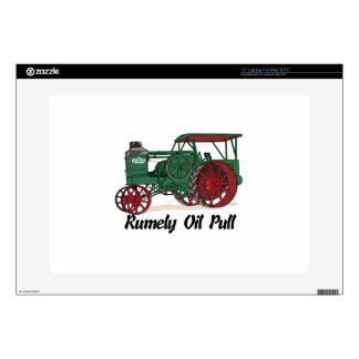 Tractor del tirón del aceite de Rumely Skins Para Portátil