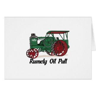 Tractor del tirón del aceite de Rumely Tarjeta De Felicitación
