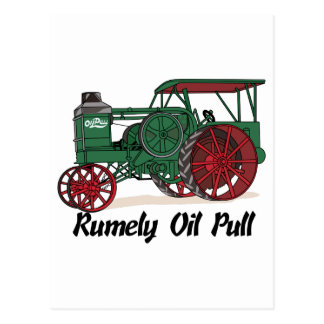 Tractor del tirón del aceite de Rumely Tarjetas Postales