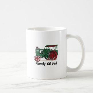 Tractor del tirón del aceite de Rumely Taza Básica Blanca