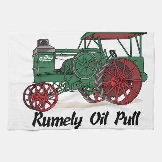 Tractor del tirón del aceite de Rumely Toallas De Mano
