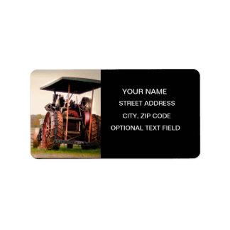 Tractor del vapor de Amish Etiquetas De Dirección