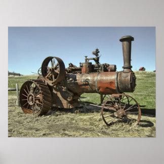 Tractor del vapor del pueblo fantasma posters