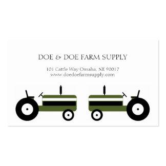 Tractor del verde de la agricultura de la fuente tarjetas de visita