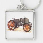 Tractor del vintage llaveros personalizados