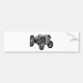 Tractor del vintage pegatina para auto