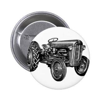 Tractor del vintage pin redondo 5 cm